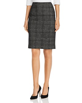 BOSS - Vidar Glen Plaid Pencil Skirt