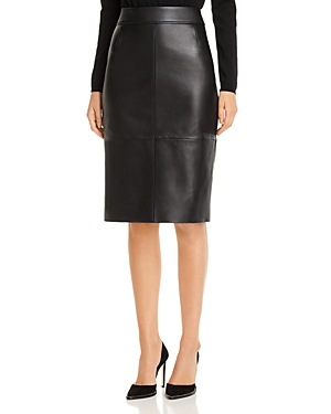 Boss Skirts SELRITA LEATHER PENCIL SKIRT