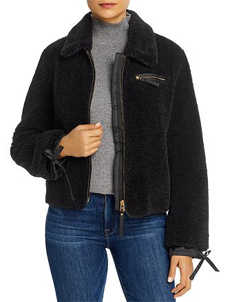 Tory Burch - Tie-Cuff Faux Fur Jacket