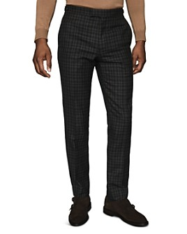 REISS - Livesey Wool Gingham Slim Fit Trousers