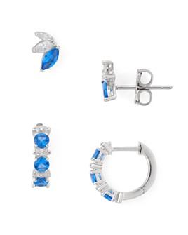 Nadri - Loa Huggie Hoop & Stud Earrings Set