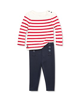 Ralph Lauren - Girls' Striped Nautical Top & Sailor Leggings Set - Baby