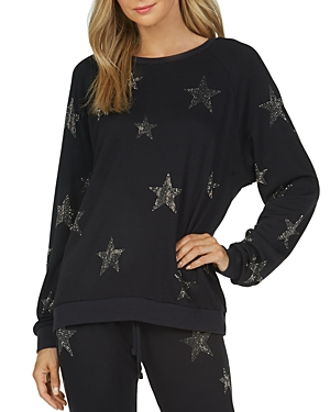 Michael Lauren Oswald Embellished Star Sweatshirt In Black
