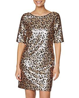 Betsey Johnson - Leopard Sequin Shift Dress