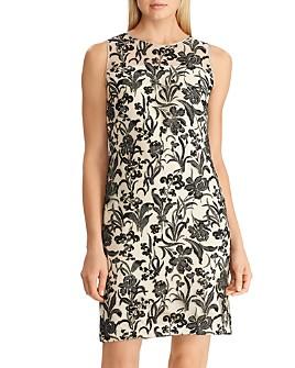 Ralph Lauren - Metallic Floral-Embroidered Dress