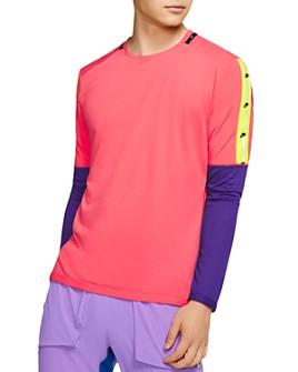 Nike - Wild Run Reflective Color-Block Long-Sleeve Tee