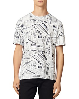 Sandro - Newspaper-Print Tee