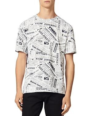 Sandro T-shirts NEWSPAPER TEE T-SHIRT