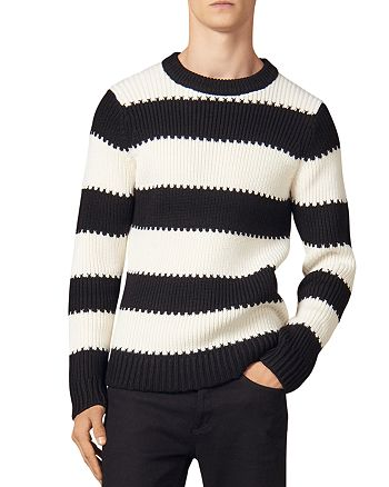 Sandro - Andy Wide-Striped Crewneck Sweater