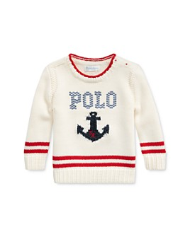 Ralph Lauren - Girls' Anchor & Logo Sweater - Baby