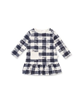 Miles Baby - Girls' Checkered Snowflake Dress - Baby