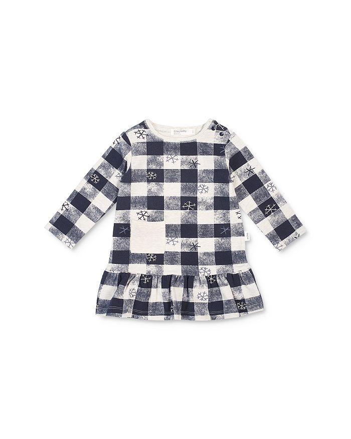 Miles Baby - Girls' Checkered Snowflake Dress - Baby
