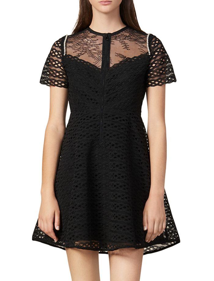 Sandro - Dente Guipure Lace Mini Dress
