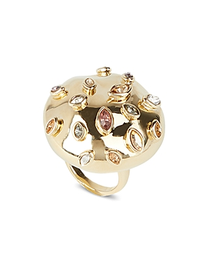 Alexis Bittar Sputnik Crystal & Multicolor Stone Cocktail Ring