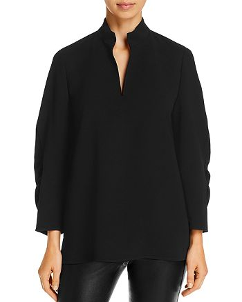 Lafayette 148 New York - Loretta Ruched-Sleeve Blouse