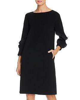 Lafayette 148 New York - Abigail Ruffle Detail Crêpe Shift Dress