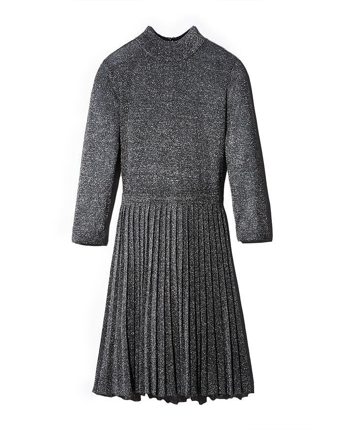 Ted Baker - Noaleen Pleated Metallic Knit Mini Dress
