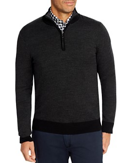Brooks Brothers - Birdseye Merino Wool Quarter-Zip Sweater