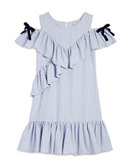 Habitual Kids - Girls' Jael Ruffled Cold-Shoulder Dress - Big Kid