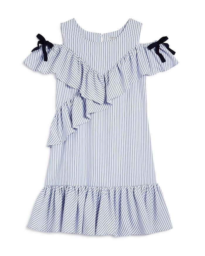 Habitual Kids - Girls' Jael Ruffled Cold-Shoulder Dress - Big Kid
