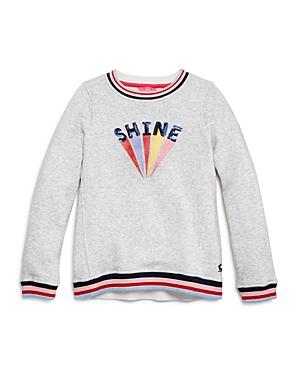 Joules Sweatshirts GIRLS' VOILA SHINE SWEATSHIRT - LITTLE KID, BIG KID