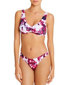 AQUA - Knotted Tie-Dyed Bikini Top & Basic Scoop Bikini Bottom- 100% Exclusive