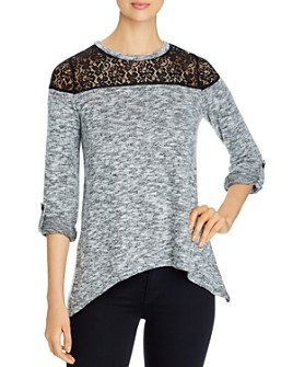 Design History - Lace-Inset Handkerchief Hem Top