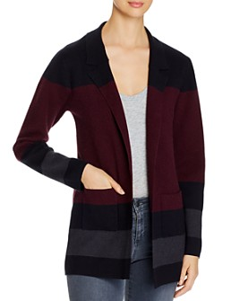 Sioni - Color-Blocked Open Front Cardigan