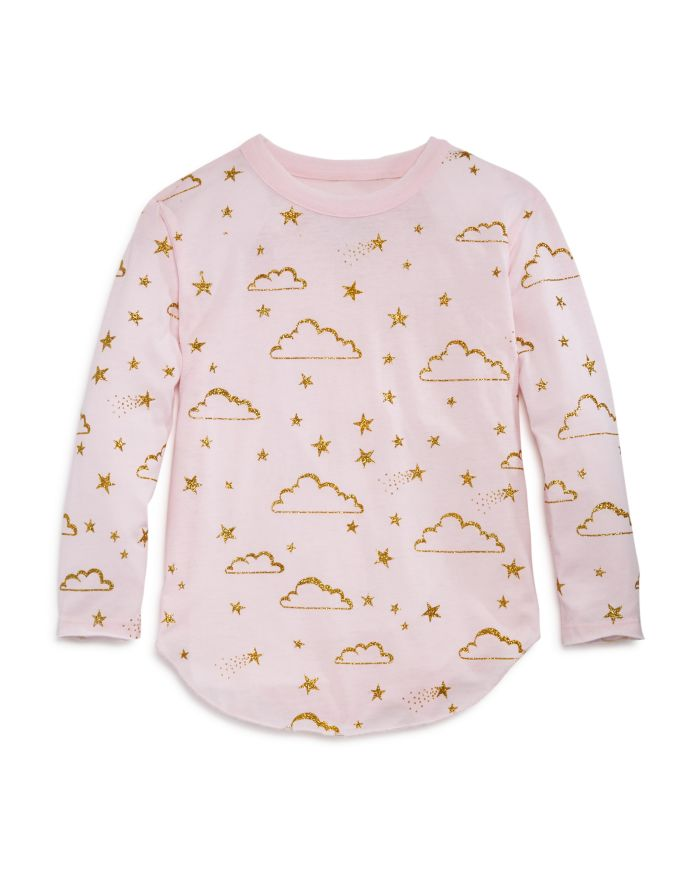 CHASER Girls' Glitter Cloud Print Sweatshirt - Little Kid, Big Kid   | Bloomingdale's