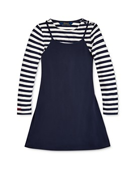 Ralph Lauren - Girls' Striped Tee & A-Line Dress Set - Little Kid