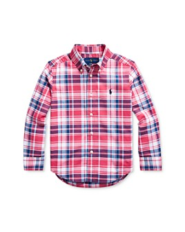 Ralph Lauren - Boys' Plaid Poplin Button-Down Shirt - Little Kid