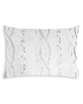 """Kevin O'Brien Studio - Studio Cable Knit Velvet Decorative Pillow, 14"""" x 20"""""""