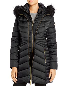 Laundry by Shelli Segal - Hooded Faux Fur-Trim Puffer Coat
