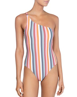 Peony - One-Shoulder One Piece Swimsuit