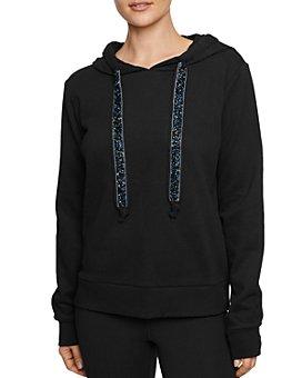 Betsey Johnson - Glitter-Drawstring Hooded Sweatshirt