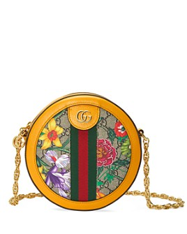 Gucci - Ophidia GG Flora Mini Round Shoulder Bag