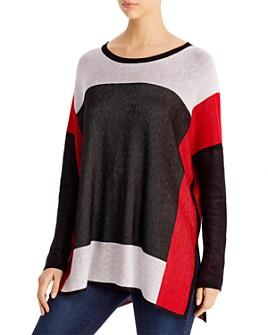 Single Thread - Color-Block Tunic Sweater