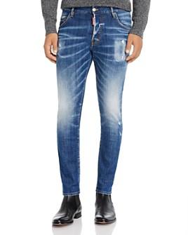 DSQUARED2 - Skinny Fit Skater Jeans in Blue