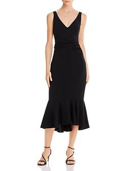 Cinq à Sept - Adira Twist Detail Fluted Midi Dress