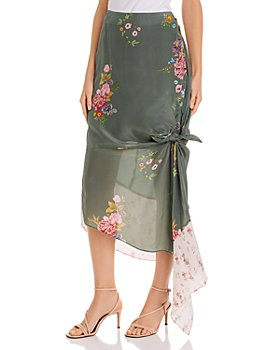 Preen Line - Alina Knot Detail Floral Print Midi Skirt