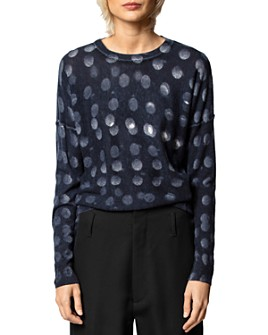 Zadig & Voltaire - Anouk Dot-Printed Cashmere Sweater