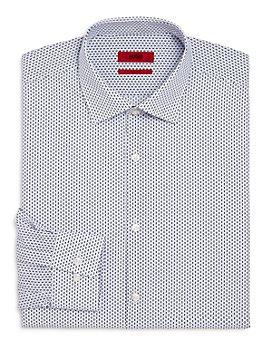 HUGO - Kenno Bars and Dots Slim Fit Dress Shirt