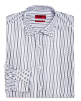 HUGO - Kenno Bars and Dots Slim Fit Dress Shirt