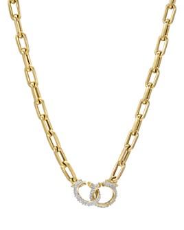 "Zoe Lev - 14K Yellow Gold Diamond Chain Necklace, 18"""