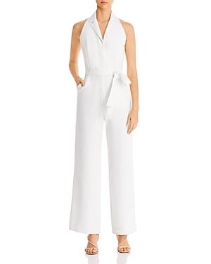 Donna Karan New York Belted Tuxedo Jumpsuit