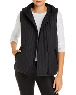 Eileen Fisher - Mixed-Media Hooded Vest