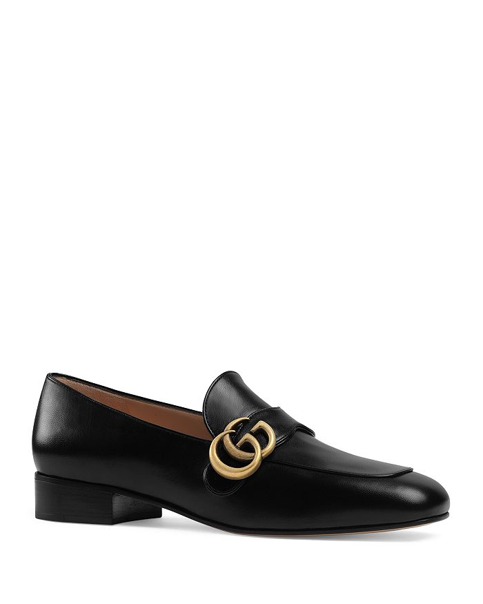 Gucci - Women's Leather Loafers with Double G