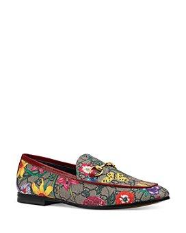 Gucci - Women's Jordaan GG Flora Slippers
