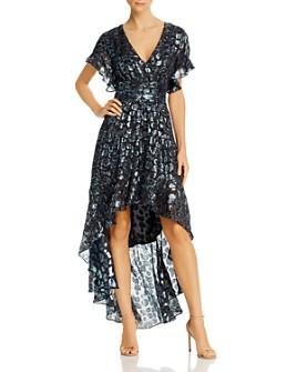 ba&sh - Grace Metallic High/Low Dress