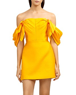 Acler - Selkin Off-the-Shoulder Draped Mini Dress